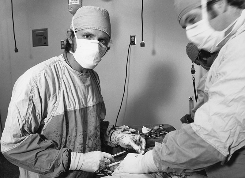 Dr Gary Noser in surgery